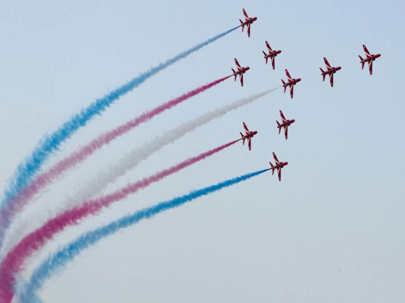 Fleet Week planes flying in sky
