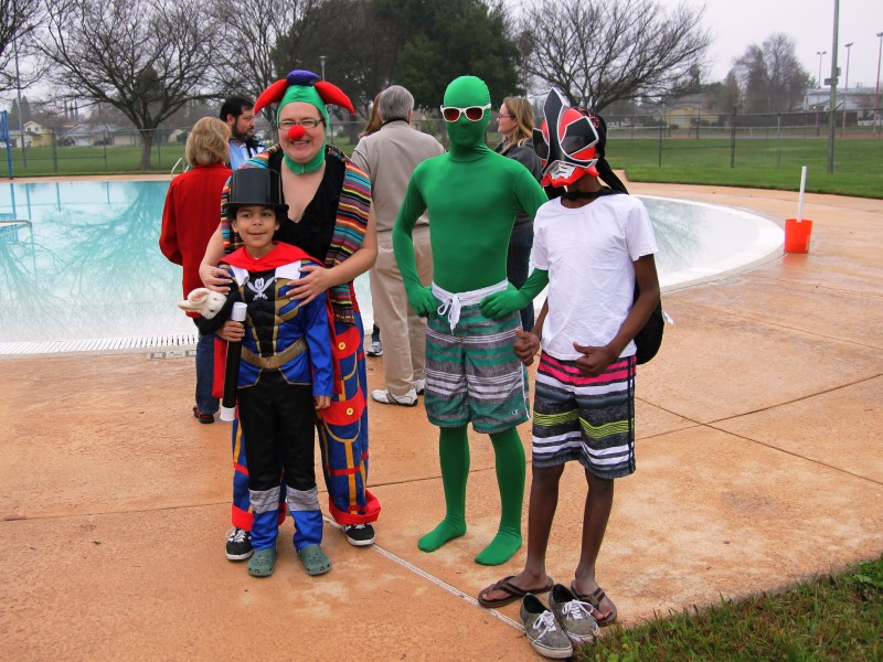 Photo of costumed participants at Polar Bear Plunge event